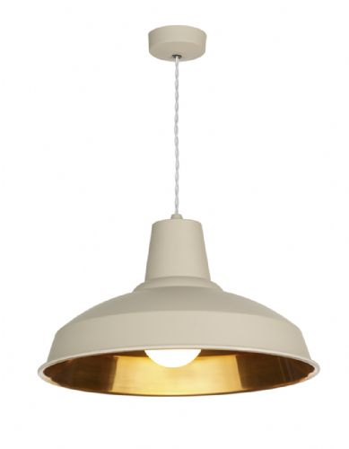 Reclamation Pendant Cotswold Cream/Copper inner REC0112 (7-10 day Delivery) (Double Insulated)
